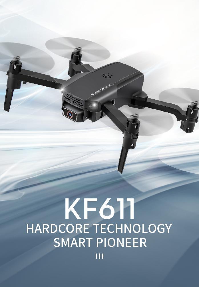 HobbyLane KF611 Drone 4k HD Camera Wide Angle 1080p WIFI FPV Drone Dual Camera Quadcopter Height Keep Drone Camera Toy